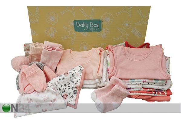 0-6 kuukauden ikäisen tyttövauvan vaatelaatikko