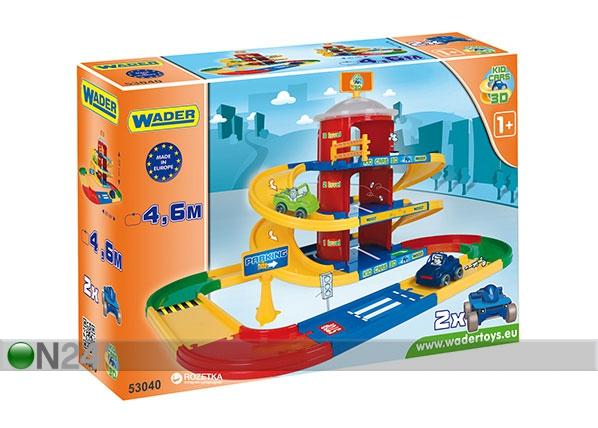 3-kerroksinen autotalli KID CARS 3D