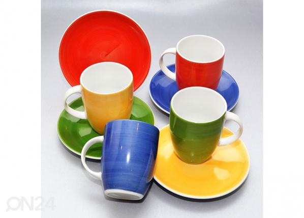 Kahviastiasto VÄRIT, 8 kpl