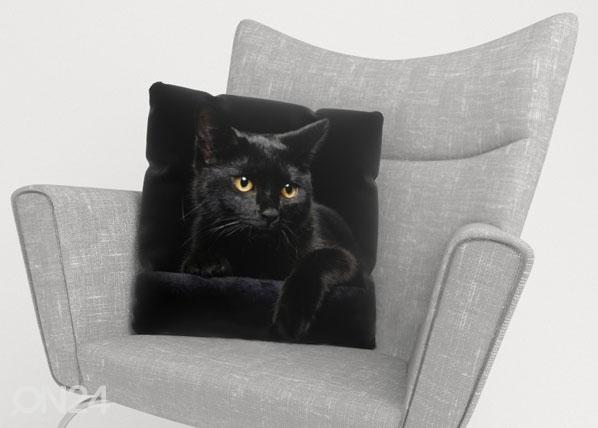 Koristetyynyliina BLACK CAT 45x45 cm