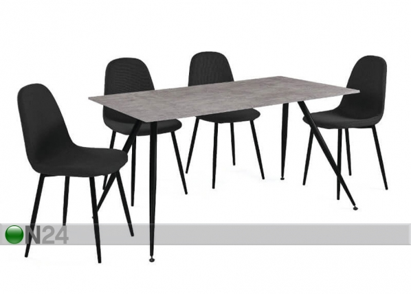Ruokapöytä + 4 tuolia LA COMERA