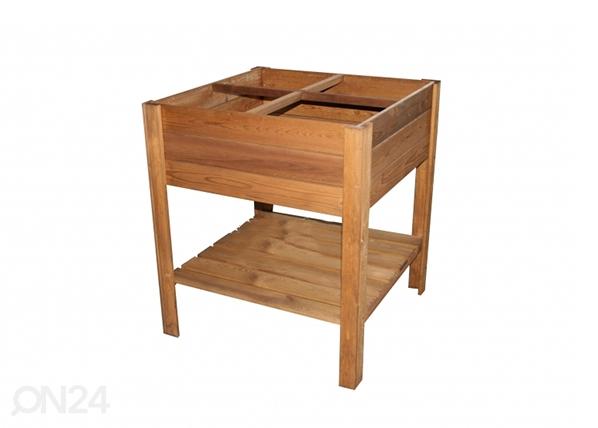 Istutuslaatikko jaloilla 80x80 cm 4 lokeroa