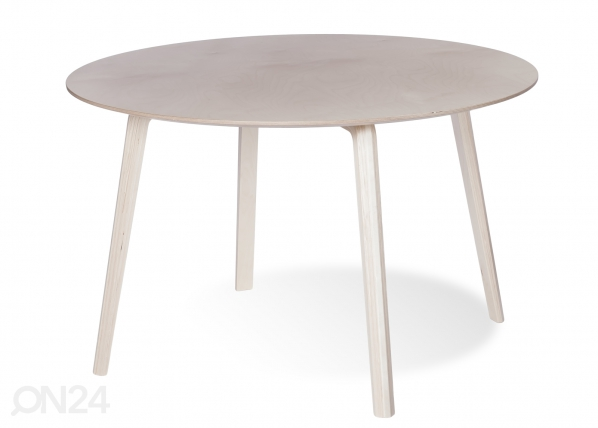 Ruokapöytä MILONGA Ø 120 cm (petsattu koivu)