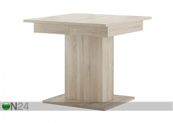 Jatkettava ruokapöytä 85x85-220 cm