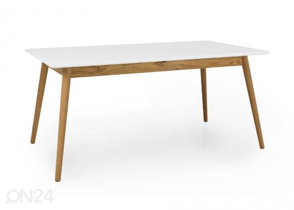 Jatkettava ruokapöytä Dot 160-205x90 cm