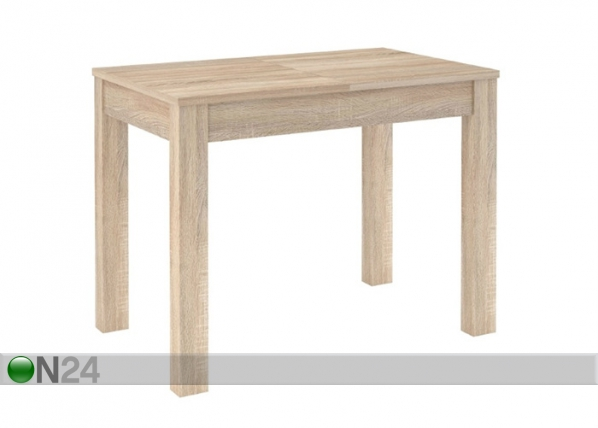 Jatkettava ruokapöytä 80x100-160 cm