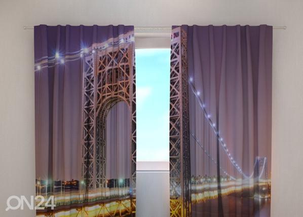 Puolipimentävä verho G.WASHINGTON BRIDGE 240x220 cm