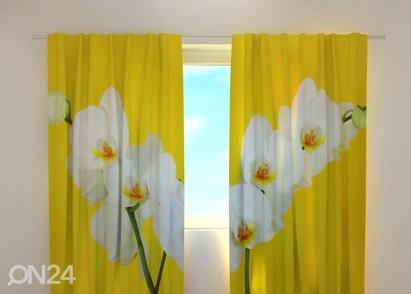 Pimentävä verho WHITE ORCHIDS 240x220 cm