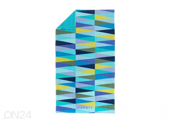 Rantapyyhe ESPIRIT PYRAMID BLUE 100x180 cm