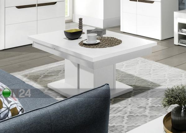 Jatkettava ruokapöytä 114-144x52 cm