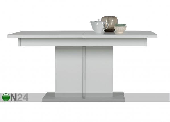 Jatkettava ruokapöytä 160x200x90 cm