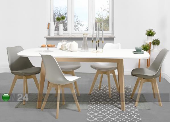 Jatkettava ruokapöytä NAISS 160x90 cm