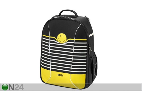 Koulureppu HERLITZ BE BAG AIRGO SMILEYWORLD BLACK STRIPES