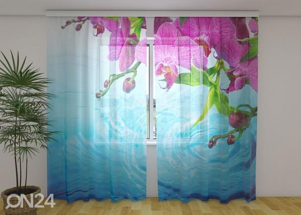 Sifonki-kuvaverho AMAZING ORCHID 240x220 cm