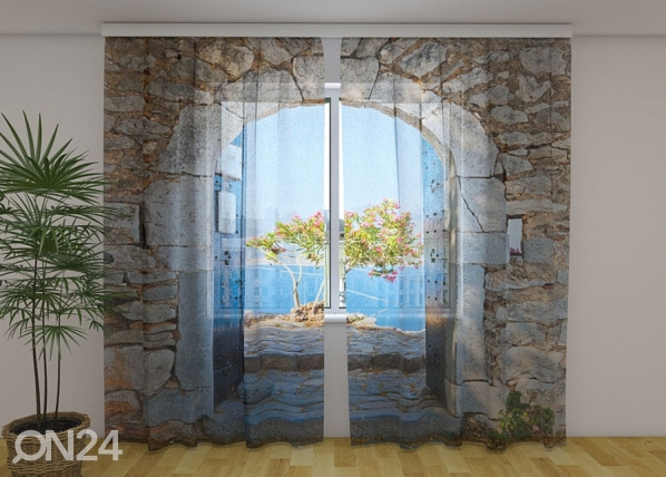 Sifonki-kuvaverho ARCHWAY TO THE SEA 240x220 cm