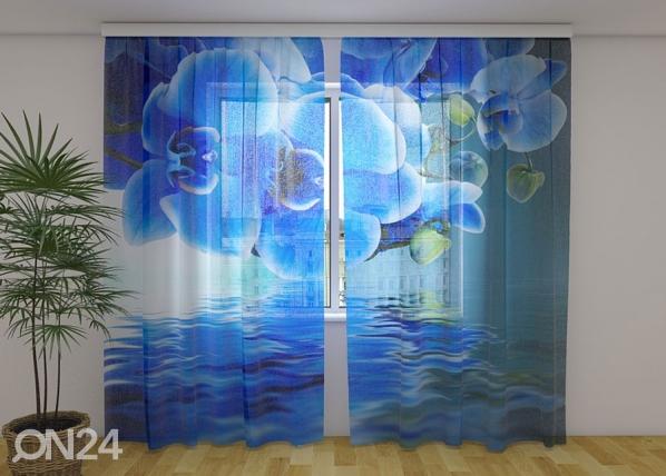 Sifonki-kuvaverho SAPPHIRE ORCHID 240x220 cm