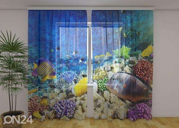 Sifonki-kuvaverho SEA FAIRY TALE 240x220 cm