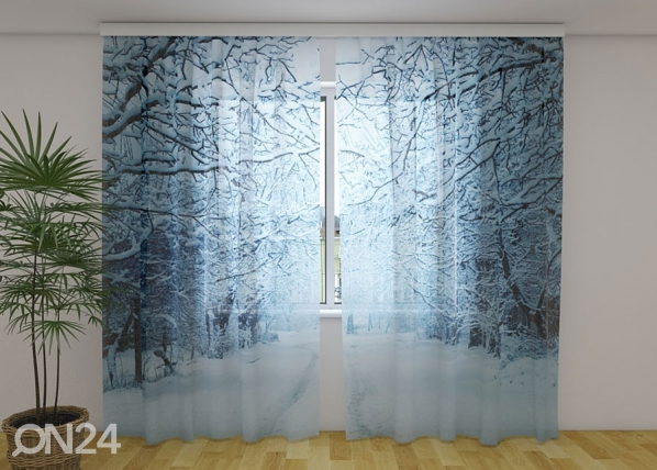 Sifonki-kuvaverho SNOWY EVENING 240x220 cm