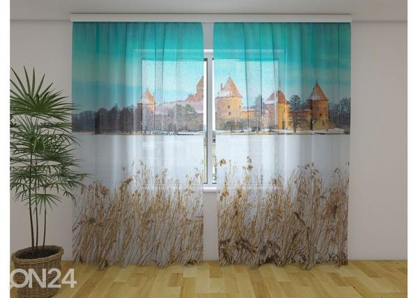 Sifonki-kuvaverho TRAKAI CASTLE IN WINTER 240x220 cm