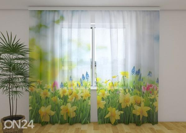 Sifonki-kuvaverho YELLOW DAFFODILS 240x220 cm
