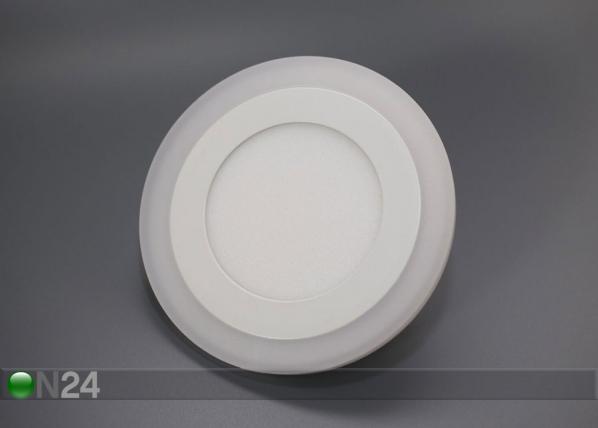 Upotettava paneelivalaisin 8+6 W, Ø24,5 cm