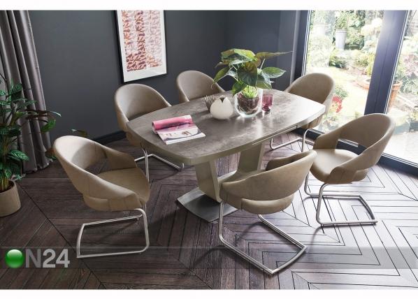 Jatkettava ruokapöytä LEANDRO 160-210x90 cm