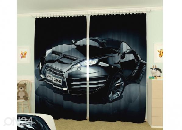 Kuvaverhot BLACK CAR 300x260 cm