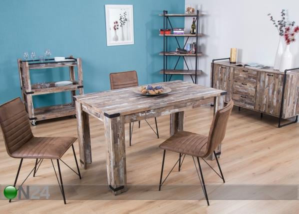 Ruokapöytä FACTORY 1 80x140 cm