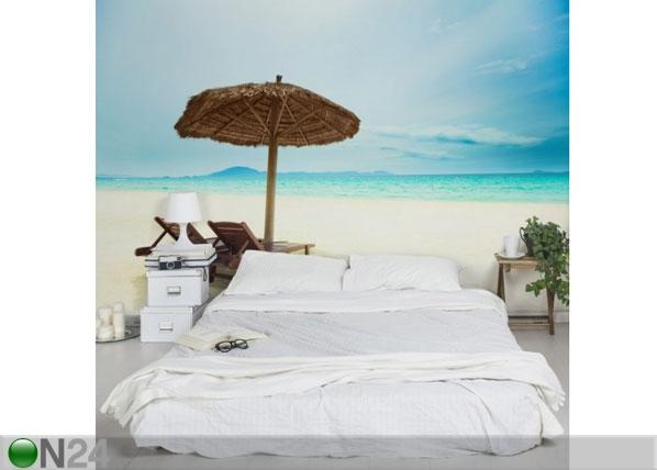 Fleece-kuvatapetti BEACH OF DREAMS