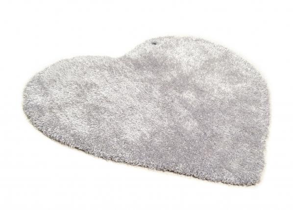 Pitkäkarvainen matto SOFT UNI HEART 100x100 cm