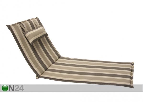 Aurinkotuolin pehmuste Wicker 55x195 cm