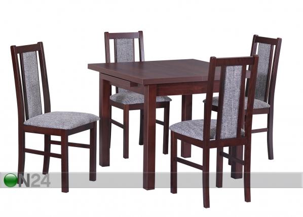 Jatkettava ruokapöytä 80-125x80 cm