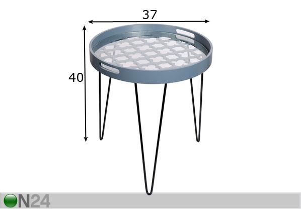 Apupöytä Ø50 cm