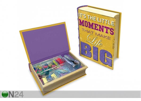 Kirjan muotoinen laatikko MAKU HAPPU QUOTES