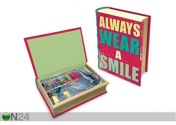 Kirjan mallinen laatikko MAKU HAPPY QUOTES