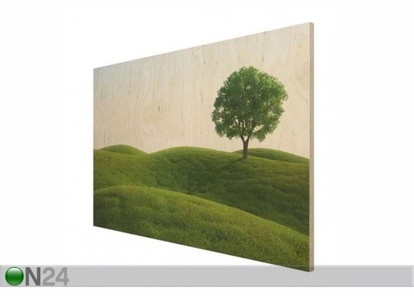 Seinätaulu puualustalla GREEN PEACE