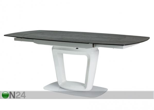 Jatkettava ruokapöytä CLAUDIO CERAMIC 100x140-200 cm