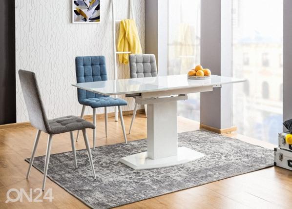 Jatkettava ruokapöytä AUSTIN 80x120-160 cm