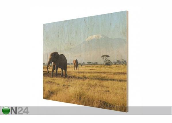 Seinätaulu ELEPHANTS IN FRONT OF THE KILIMANJARO IN KENYA