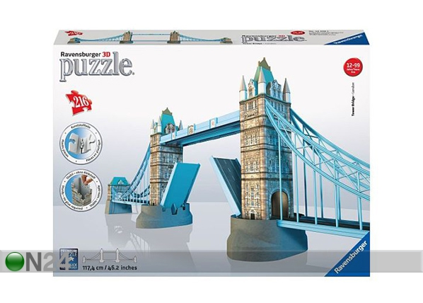 3D palapeli TOWER BRIDGE 216 palaa