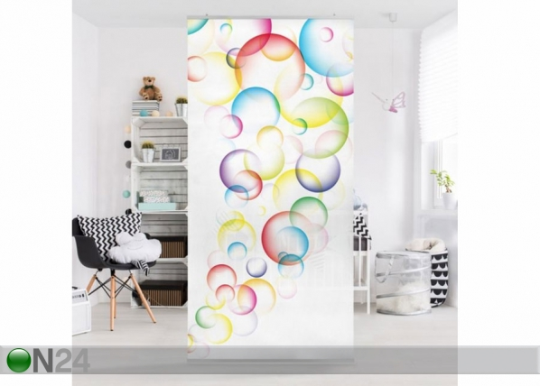 Paneeliverho RAINBOW BUBBLES 250x120 cm