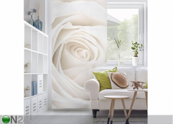 Paneeliverho PRETTY WHITE ROSE 250×120 cm