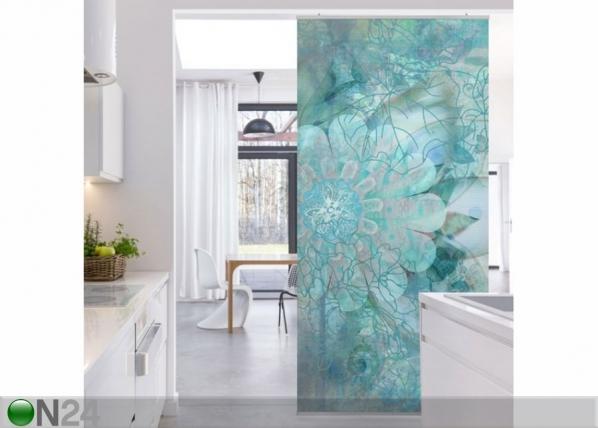 Paneeliverho WINTER FLOWERS 250×120 cm