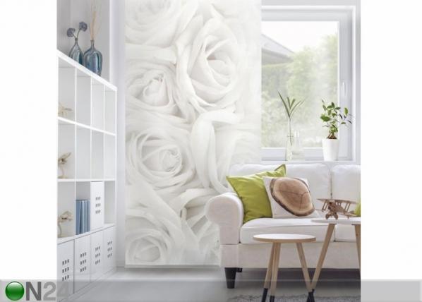 Paneeliverho WHITE ROSES 250x120 cm