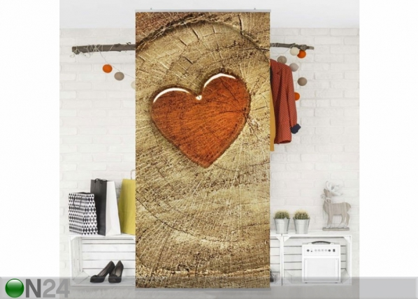 Paneeliverho NATURAL LOVE 250×120 cm