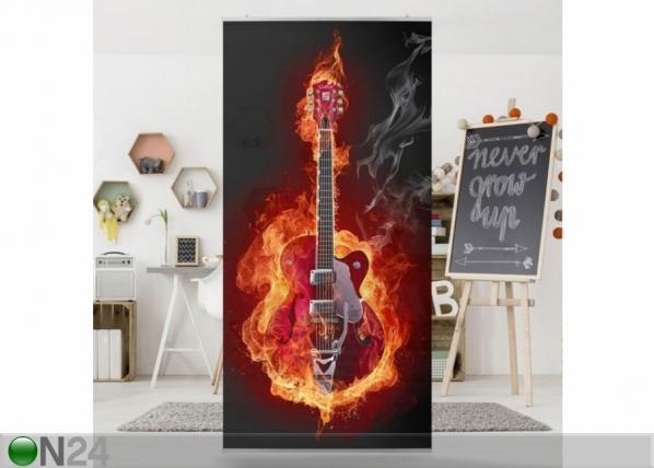 Paneeliverho GUITAR IN FLAMES 250x120 cm