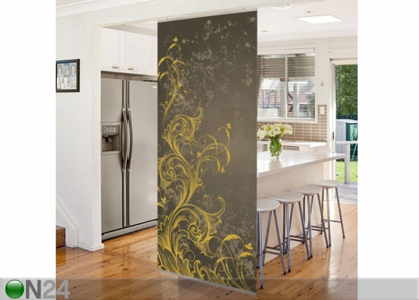 Paneeliverho FLOURISHES IN GOLD AND SILVER 250x120 cm