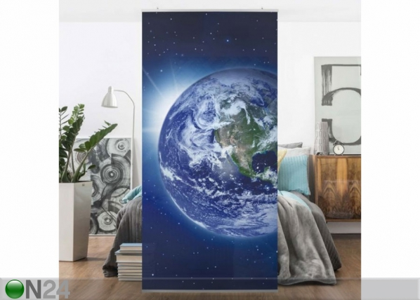 Paneeliverho EARTH IN SPACE 250x120 cm