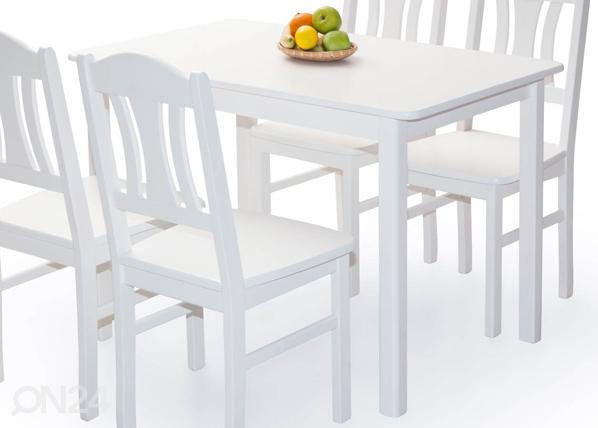 Ruokapöytä PER 120×70 cm, valkoinen