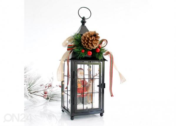 LED joulukoristelyhty SANTA